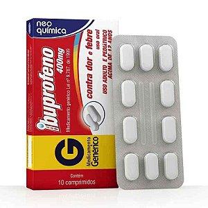 Ibuprofeno 400mg 10 Comprimidos Neo Química Genérico