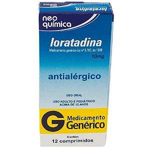 Loratadina 10mg 12 Comprimidos Neo Química Genérico