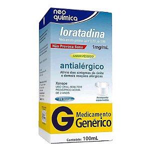 Loratadina 1mg Xarope 100ml Neo Química Genérico