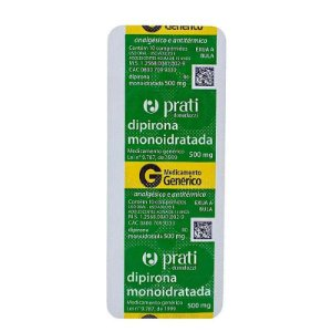 Dipirona Sódica 500mg 10 Comprimidos Prati-Donaduzzi Genérico