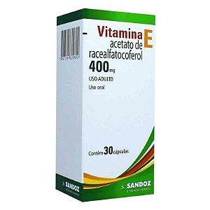 Vitamina E 400mg 30 Cápsulas Gelatinosas Moles Sandoz