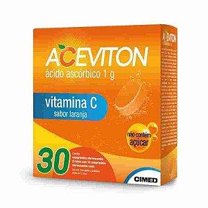 Aceviton 1g Sabor Laranja 30 Comprimidos Efervescentes