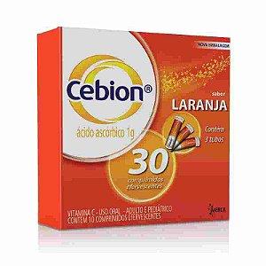 Cebion 1g Sabor Laranja 30 Comprimidos Efervescentes