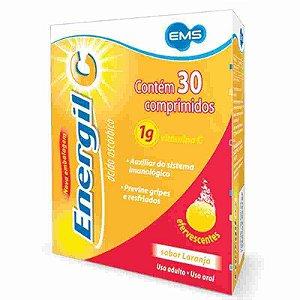 Energil C 1g sem Açúcar 30 Comprimidos Efervescentes