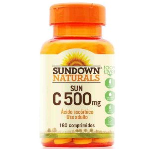 Vitamina C 500mg Pure 180 Comprimidos Revestidos Sundown