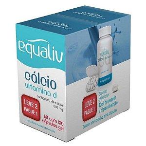 Cálcio Vitamina D 120 Comprimidos Revestidos Leve+ Pague- Equaliv
