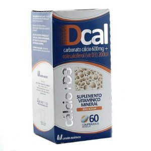 Dcal D3 600mg + 200UI 60 Comprimidos