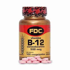 Vitamina B12 500mcg 100 Comprimidos FDC