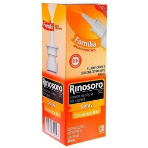 Rinosoro 0,9% Sic Spray Nasal Adulto e Pediátrico 50ml