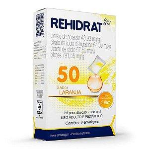 Rehidrat 50 Laranja 4 Envelopes