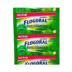 Flogoral 3mg Pastilhas Sabor Menta 4 Unidades