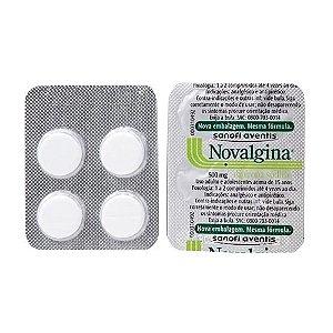 Novalgina 500mg 4 Comprimidos