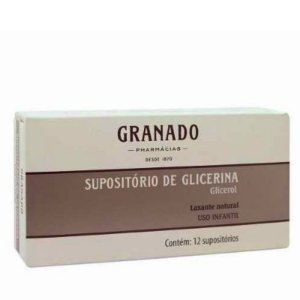 Supositórios Glicerina Granado Infantil 12 Unidades