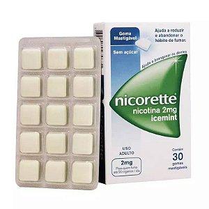 Nicorette Icemint 2mg 30 Gomas Mastigáveis