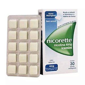 Nicorette Icemint 4mg 30 Gomas Mastigáveis