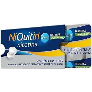 Niquitin 2mg Sabor Menta 4 Pastilhas