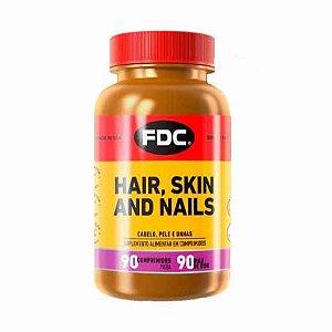 Suplemento Vitamínico Mineral FDC Hair, Skin and Nails com 90 Comprimidos