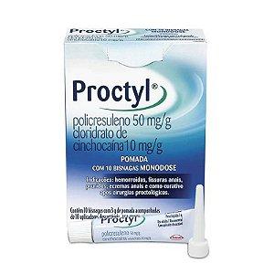 Proctyl Pomada 10 Bisnagas 3g + 10 Aplicadores
