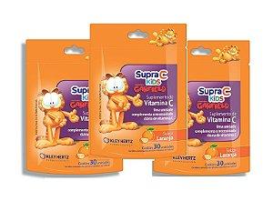 Leve 3, Pague 2 - Supra C Kids Garfield Sabor Laranja 30 Unidades