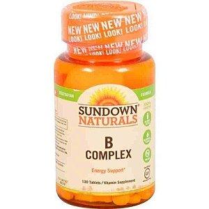 Vitamina B Complex 100 Comprimidos Sundown