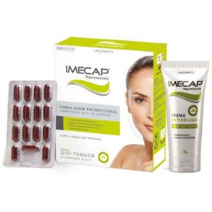 kit Imecap Rejuvenescedor Creme Facial 35g + 30 Cápsulas