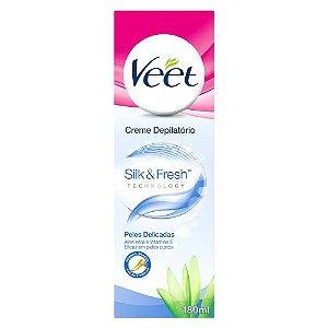 Creme Depilatório Veet Silk & Fresh Peles Delicadas 180ml