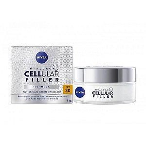Creme Facial Hyaluron Antissinais Cellular Filler Nivea 30FPS com 50ml