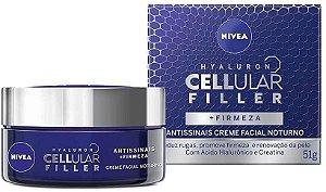 Creme Facial Hyalluron Cellular Filler Noturno Nivea 51g