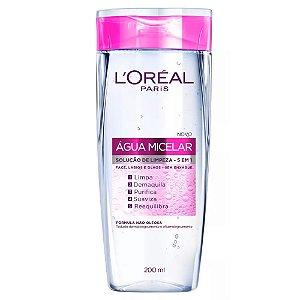Água Micelar L'Oréal Paris Solução de Limpeza 5 em 1 com 200mL