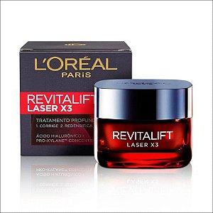 Creme Facial Anti-Idade L'Oréal Paris Revitalift  Laser X3 com 50ml
