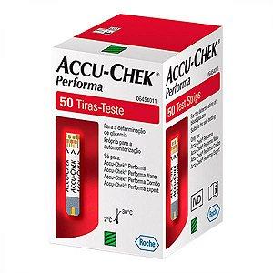 Tira para Controle de Glicemia Accu-Chek Performa 50 Tiras