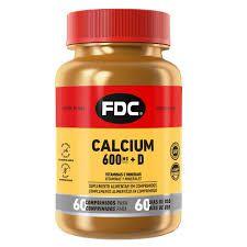 Calcium 600mg + Vitamina D 60 Comprimidos FDC