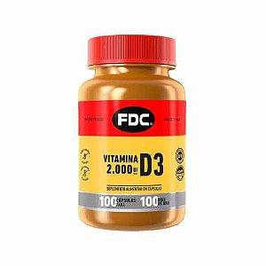 Vitamina D3 2.000UI FDC com 100 Cápsulas