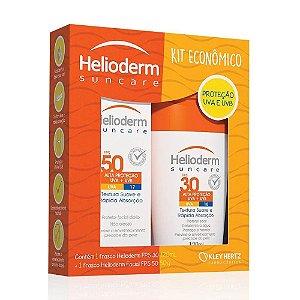 Protetor Solar Helioderm Suncare FPS 30 Loção 120g + Protetor Solar Facial Helioderm FPS 50 50g