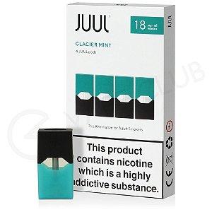 Refil Juul Glacier Mint 1,8% - 18mg - pack com 4.