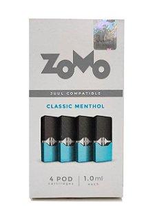 Refil Juul Zomo Menthol 1.0ml c/ 4 pods - 3,5% e 5%