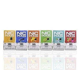 Refil compatível com Juul Nic Pods Ice Lychee c/ 4 pods - 3,5% e 5%