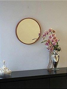 Espelho decorativo de 50cm - Cobre