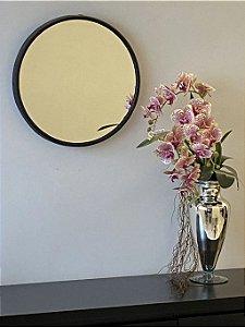 Espelho decorativo de 50cm - Preto