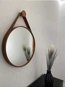 Espelho decorativo de 50cm com Alça - Cobre