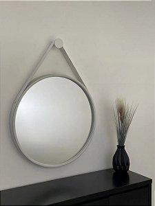 Espelho decorativo de 80cm com Alça - Branco