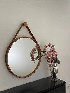 Espelho decorativo de 80cm com Alça - Cobre