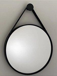 Espelho decorativo de 80cm com Alça - Preto