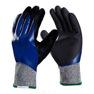 Luva Mecânico Nitrila Flexcut Banho Total Danny CA 41865 - Azul