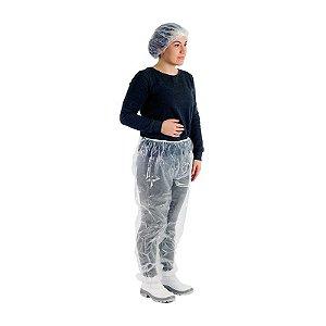 Calça descartável PE com elástico PCT25 Prevemax