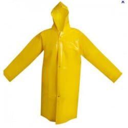 Capa de Chuva PVC com botão capuz forro/algodão Maicol (GG) CA 28191 - Amarelo