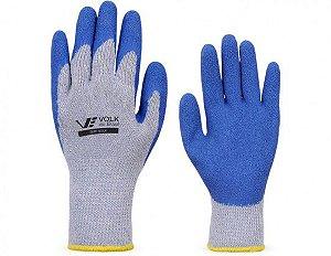 Luva Mecânico Latex Azul forro/algodão Grip Volk CA 18007
