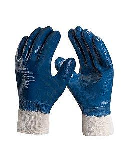 Luva Mecânico Nitrila malha Azul com elástico Lightflex Danny CA 35441