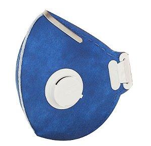 Respirador descartável PFF2 Azul com válvula Lubeka CA 38829