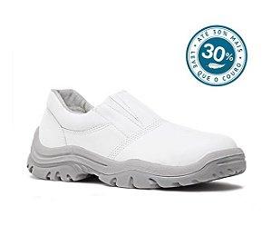 Sapato Microfibra Branco bico/PVC com elástico Fujiwara CA 31242